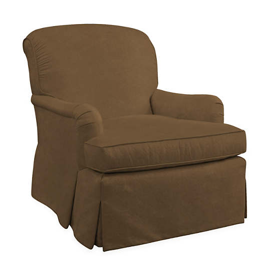 Velvesuede Camel Longford Chair