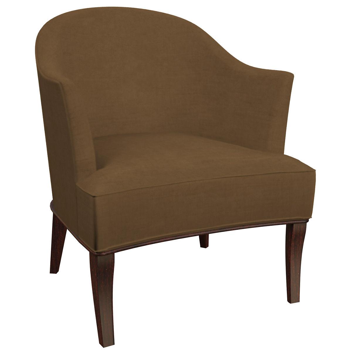 Velvesuede Camel Lyon Chair