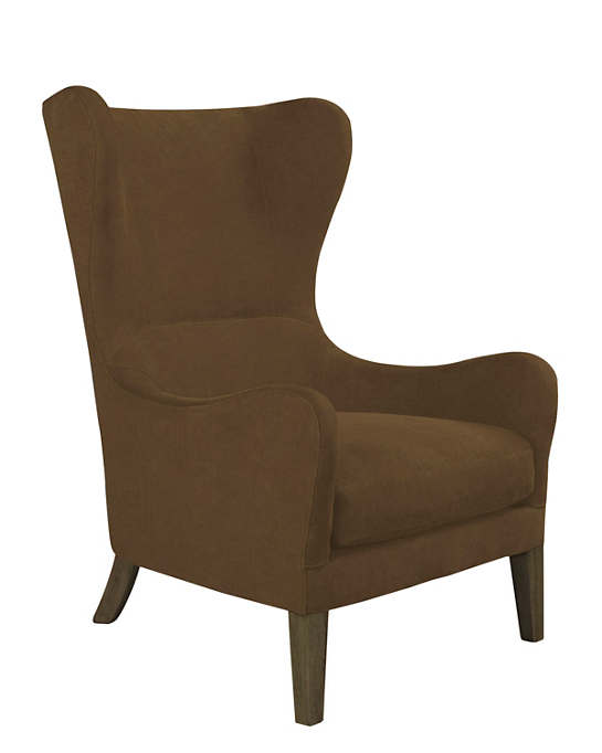 Velvesuede Camel Mirage Smoke Chair