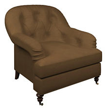 Velvesuede Camel Norfolk Chair