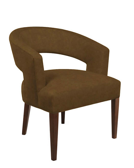 Velvesuede Camel Wright Chair