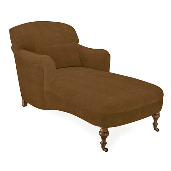 Velvesuede Camel Beaufort Chaise