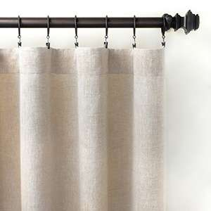 Lush Linen Natural Curtain Panel