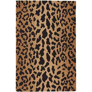 Leopard Micro Hooked Wool Rug
