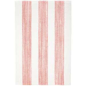 Cruise Stripe Coral Woven Cotton Rug