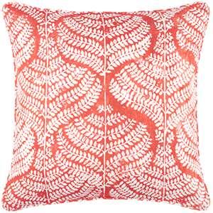 Flora Linen Coral Decorative Pillow