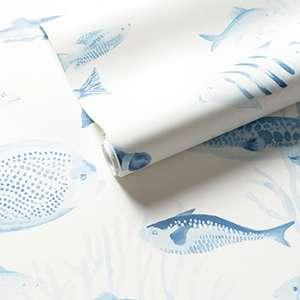 Happy Fish Blue Wallpaper
