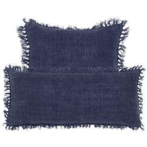 Laundered Linen Indigo Decorative Pillow