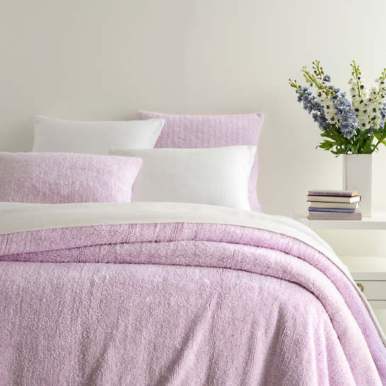 Lola Pale Lilac Coverlet