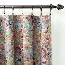 Ines Linen Grey Curtain Panel