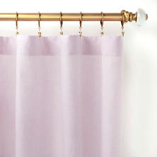 Lush Linen Pale Lilac Curtain Panel