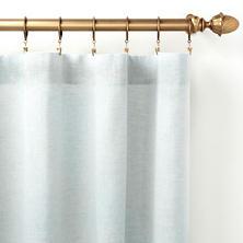 Lush Linen Sky Curtain Panel