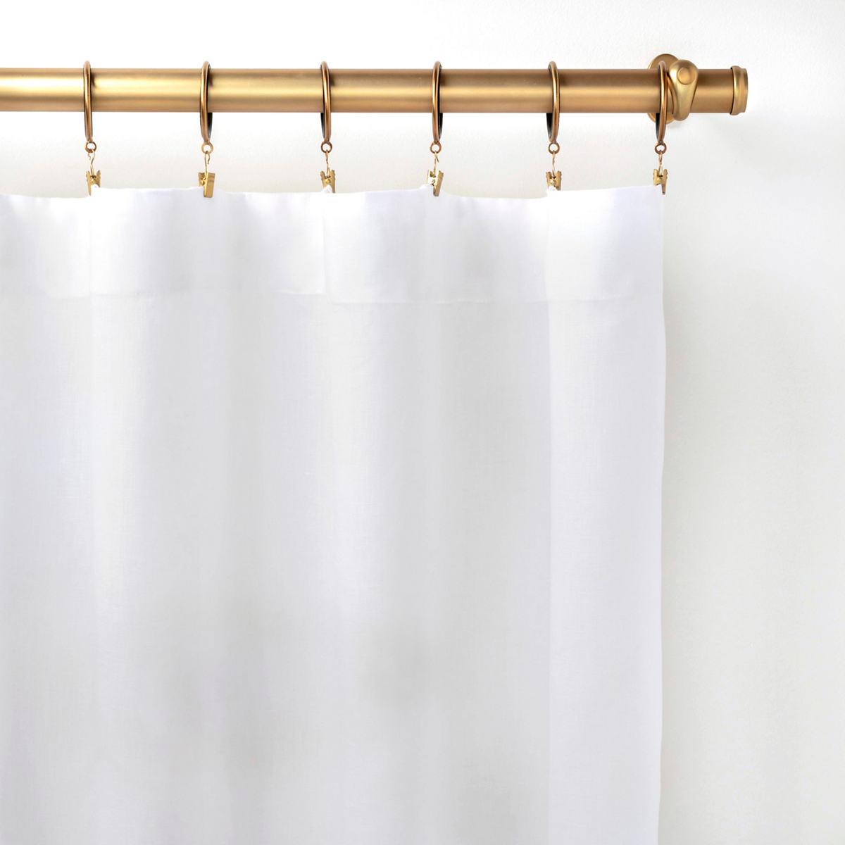 Lush Linen White Curtain Panel