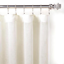 Savannah Linen Gauze Ivory Curtain Panel
