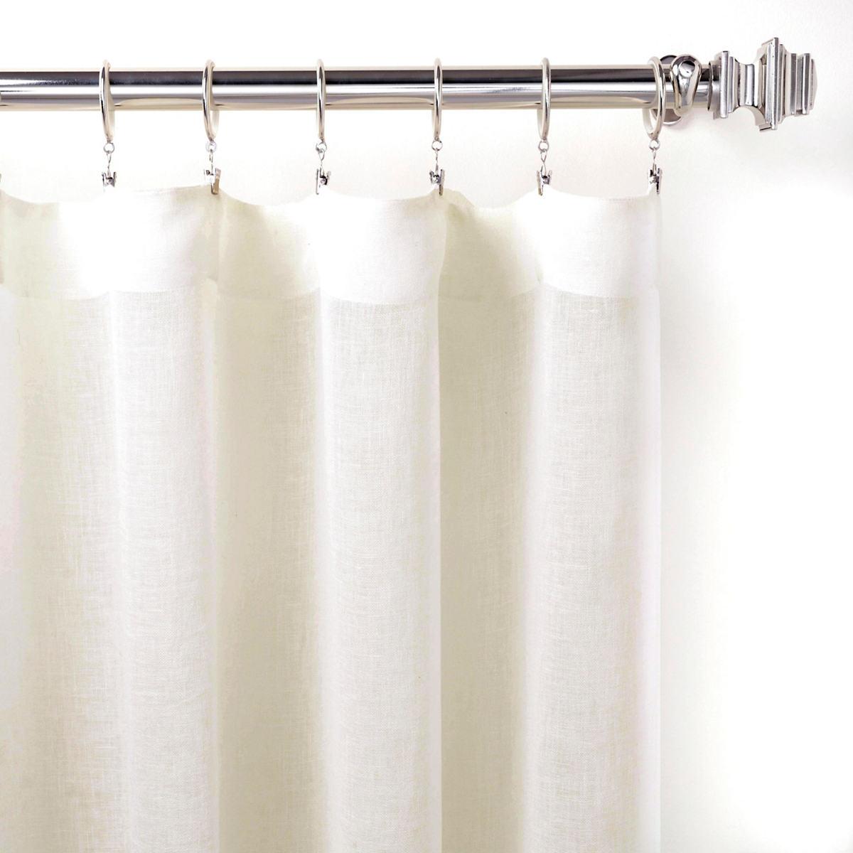 Savannah Linen Gauze Ivory Curtain Panel