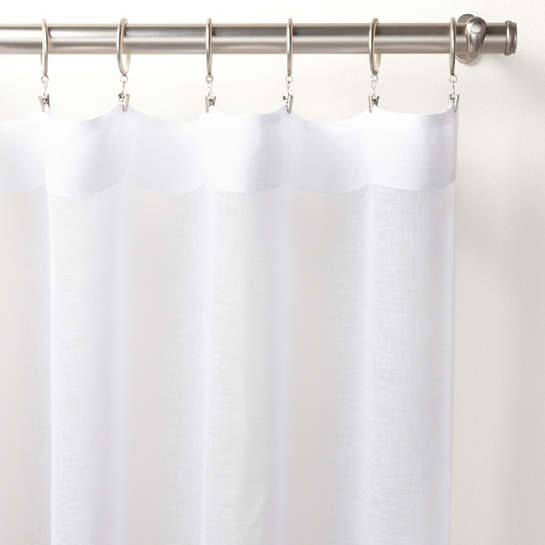Savannah Linen Gauze White Curtain Panel