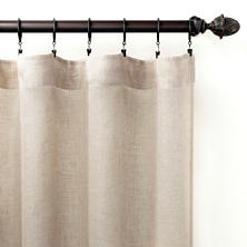 Savannah Linen Gauze Natural Curtain Panel