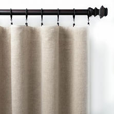 Stone Washed Linen Natural Curtain Panel