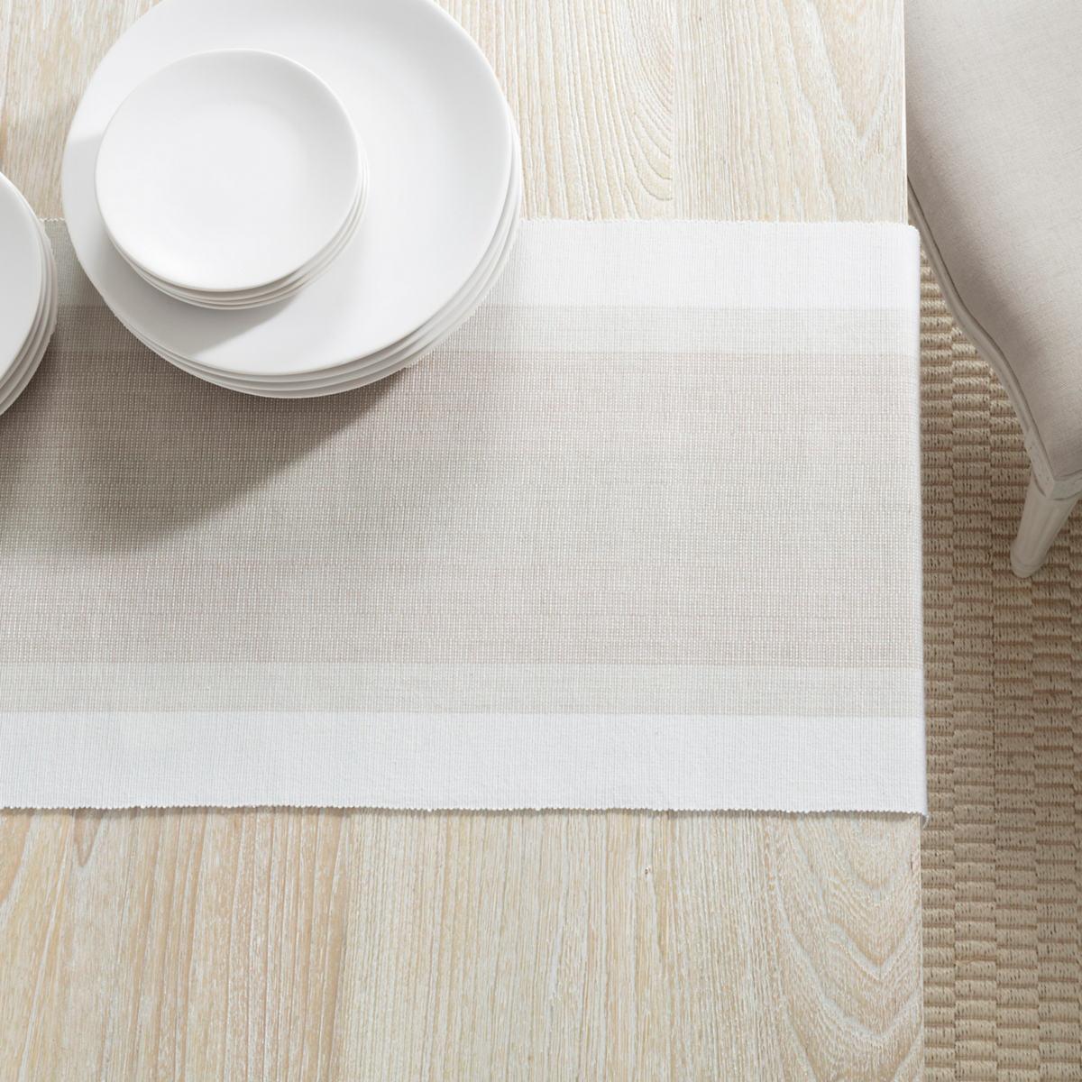 Cafe Stripe Platinum Table Runner
