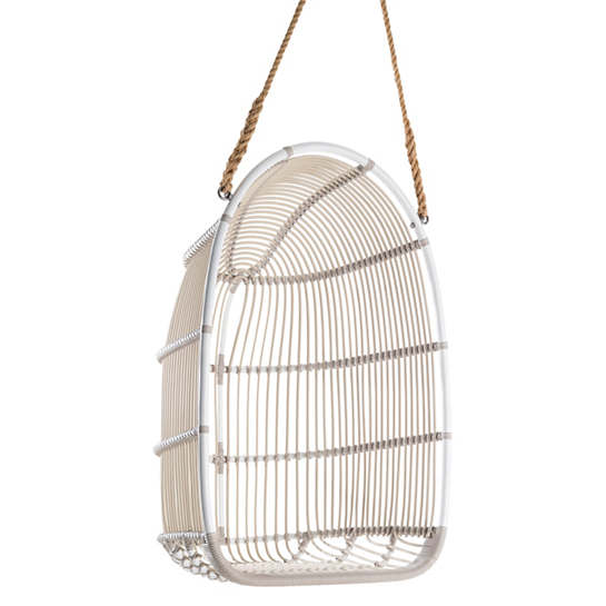 Calamus Dove White Outdoor Swing Chair
