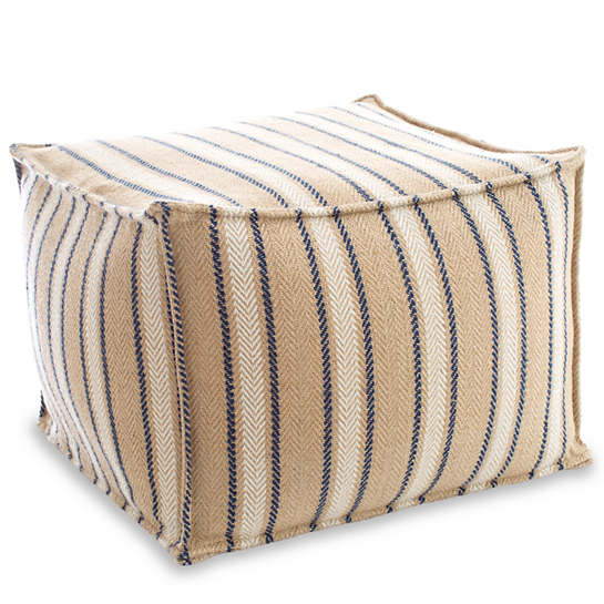 Cambridge Navy Indoor/Outdoor Pouf
