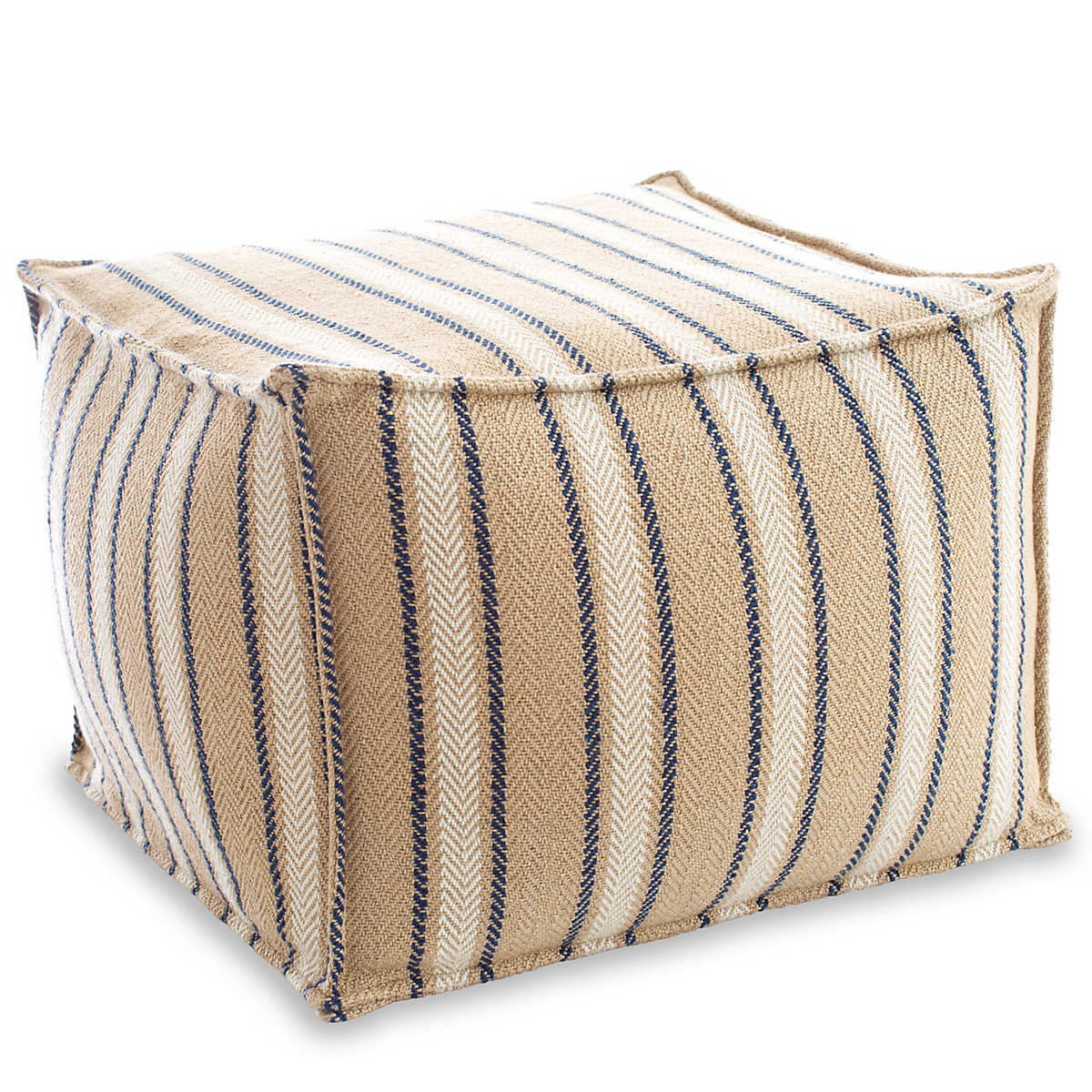 Cambridge Navy Indoor Outdoor Pouf Fresh American