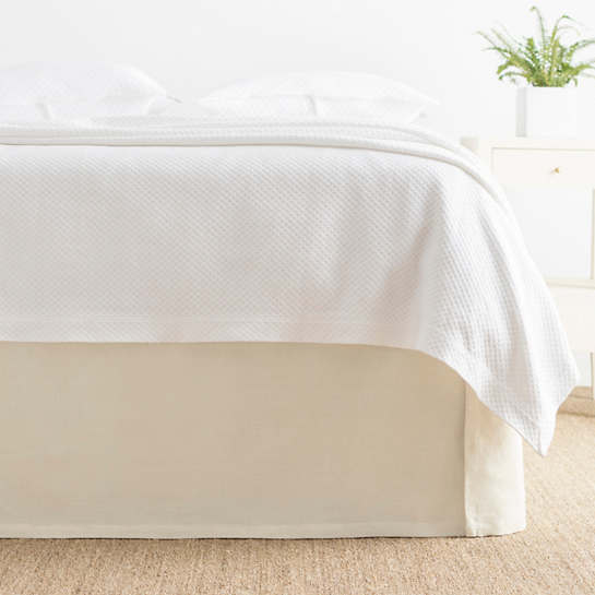 Cameo Linen Ivory Bed Skirt