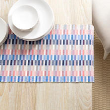 Cantina Blue/Coral Table Runner