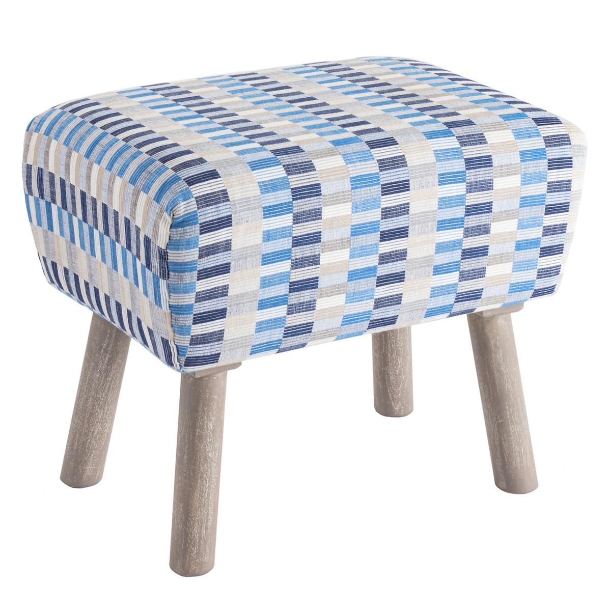 Cantina Blue/Indigo Mini Ottoman