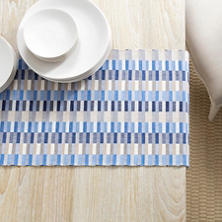 Cantina Blue/Platinum Table Runner