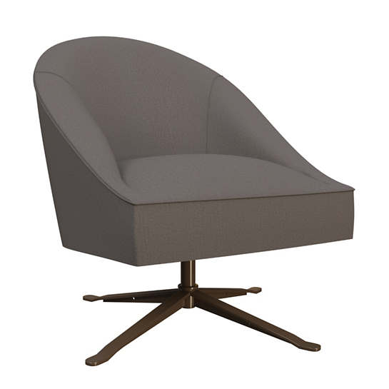 Canvasuede Charcoal Embrace Chair