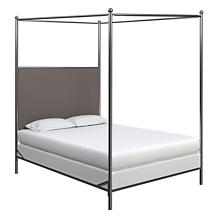 Canvasuede Charcoal Everett Bed