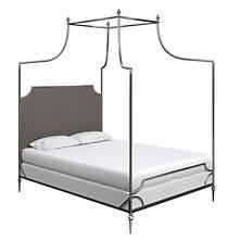 Canvasuede Charcoal Hayden Bed