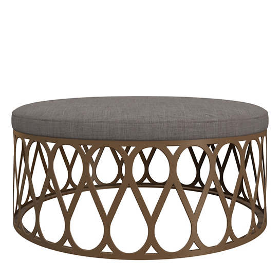 Canvasuede Charcoal Rochelle Ottoman