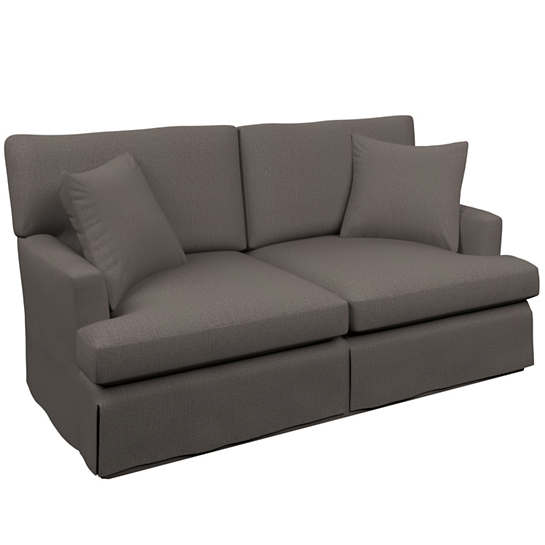 Canvasuede Charcoal Saybrook 2 Seater Slipcovered Sofa