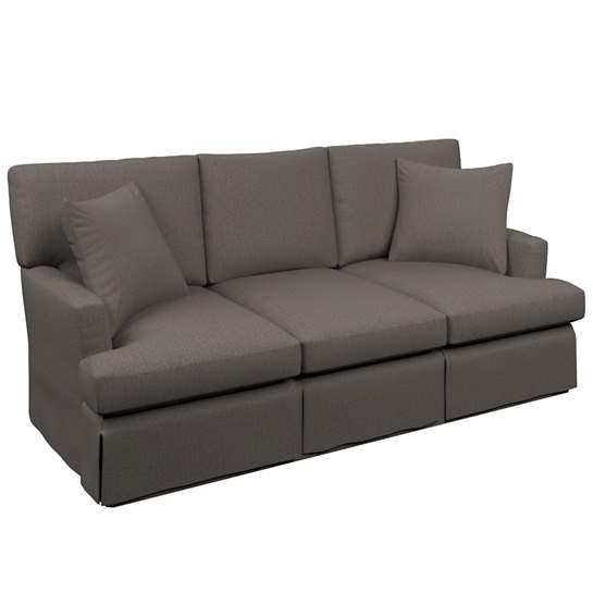 Canvasuede Charcoal Saybrook 3 Seater Slipcovered Sofa
