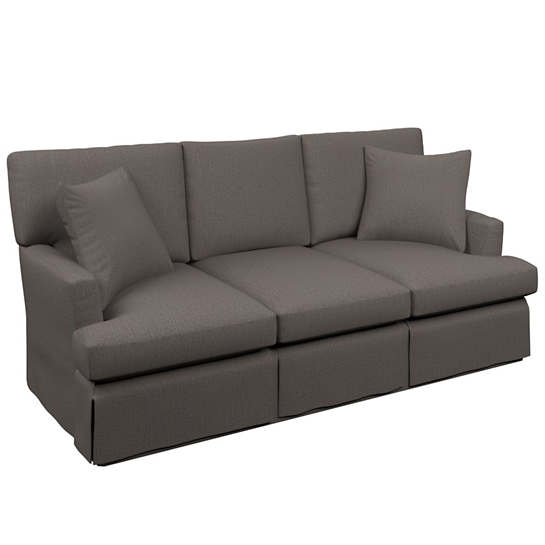 Canvasuede Charcoal Saybrook 3 Seater Sofa