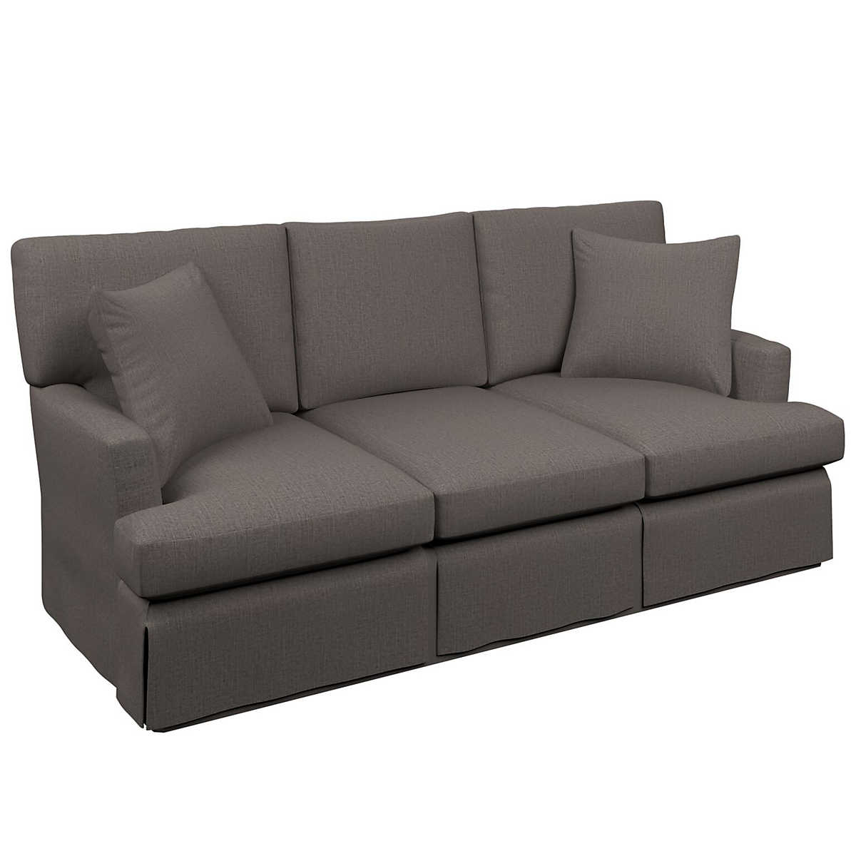 Canvasuede charcoal saybrook 3 seater sofa furniture for Shale sofa bed