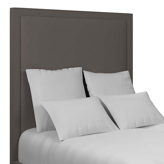 Canvasuede Charcoal Stonington Headboard