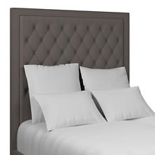 Canvasuede Charcoal Stonington Tufted Headboard