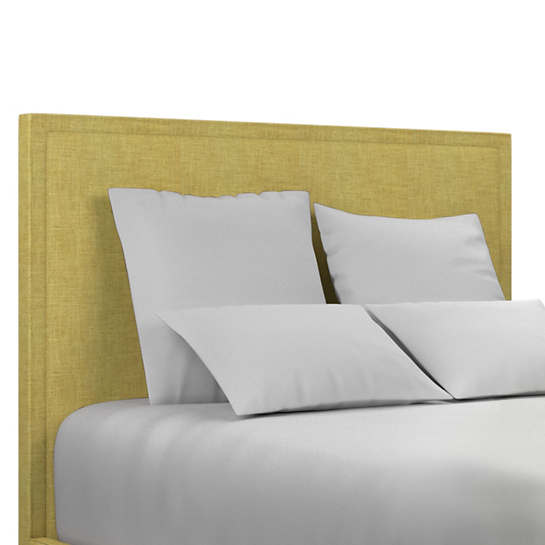 Canvasuede Citrus Colebrook Smoke Headboard