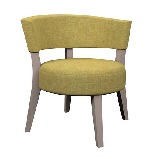 Canvasuede Citrus Crescent Chair