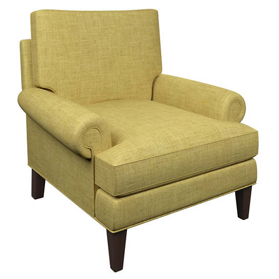 Canvasuede Citrus Easton Chair