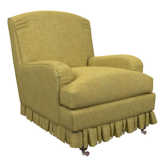 Canvasuede Citrus Ellis Chair