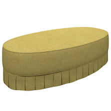 Canvasuede Citrus Kendall Box Pleat Ottoman
