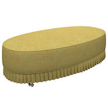 Canvasuede Citrus Kendall Mini Pleat Ottoman