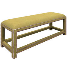 Canvasuede Citrus Lexington Bench