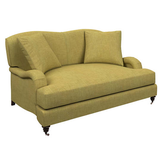 Canvasuede Citrus Litchfield Loveseat