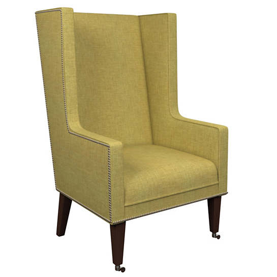Canvasuede Citrus Neo-Wing Chair