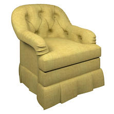 Canvasuede Citrus Norfolk Skirted Chair